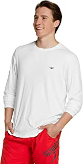 Speedo Men's UV Swim Shirt Basic Easy Long Sleeve Regular Fit
