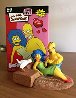 Simpsons Series 5 Valentines Day Homer & Marge Bust-Ups Action Figure
