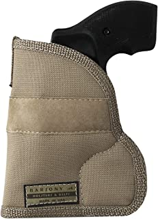 Barsony New Desert Sand Ambidextrous Pocket Holster for 2