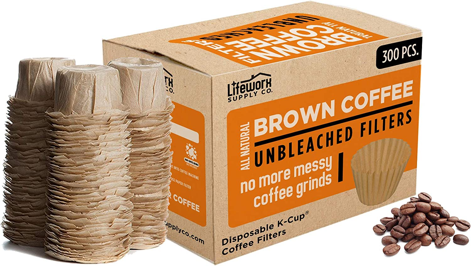 100% Natural Brown Unbleached Disposable Filters - Los Angeles Mall Austin Mall Paper Coffee