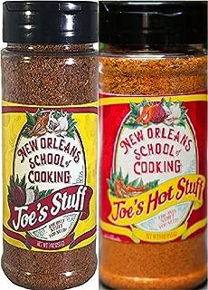 Joe's Stuff Seasoning Bundle - 1 each of Joe's Original Stuff and Joe's Hot Stuff (9 Ounces each)