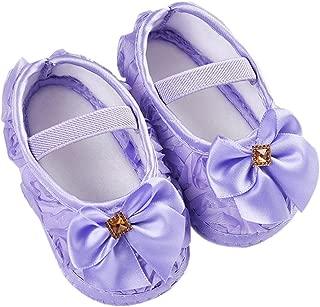 Newborn Walking Shoes,Kimanli Toddler Kid Baby Girl Rose Bowknot Elastic Band
