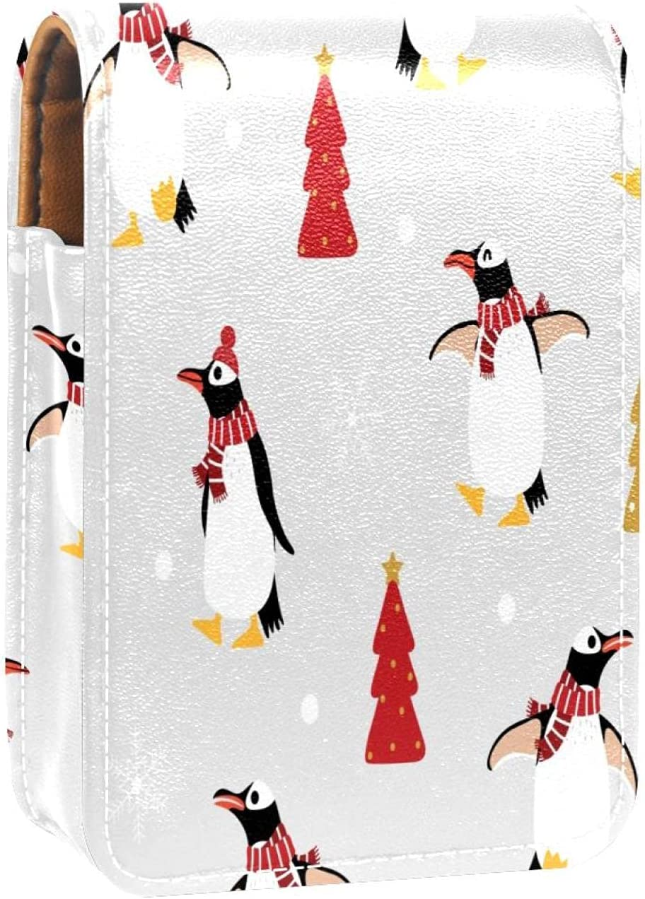 Winter Scarf Raleigh Mall Hat Penguins Our shop most popular Prints Case Lipstick Mini Hol