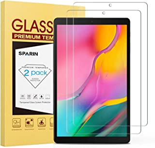SPARIN [2-Pack] Screen Protector for Galaxy Tab A 10.1 2019, 9H Hardness Tempered Glass for Samsung Galaxy Tab A 10.1 2019 SM-T515/T510 [Bubble Free] [High Definition] [Scratch Proof]