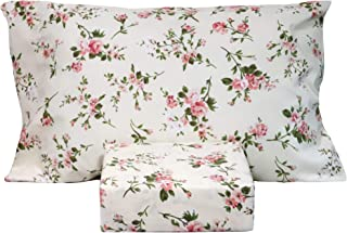 Summer Chic  Sheet Set  with Spoonflower Fabrics Floral Sheet Set Embroidery Inspired Printed Flowers By Elena/_Naylor