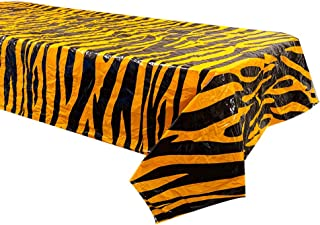 Tiger Stripe Table Covers (2), Tiger Party Supplies, Circus Party Supplies, Tiger Table Setting