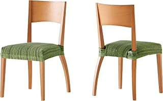 Pack de 2 Fundas de Asiento para silla modelo MEJICO, color VERDE, medida 40-50 cm ancho.