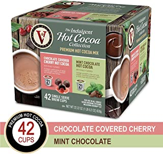 Victor Allens Hot Cocoa Chocolate Covered Cherry & Mint Chocolate (Variety Pack of 42)