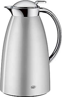 Stantuffo di caff/è in acciaio inox a doppia parete Vuoto isolato teiera Calda bottiglia di acqua Thermo Jug per succo di caff/è latte t/è bevande 1.5L Blue