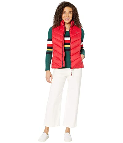 Tommy Hilfiger Adaptive Puffer Vest with Magnetic Zipper (Tango Red) Women