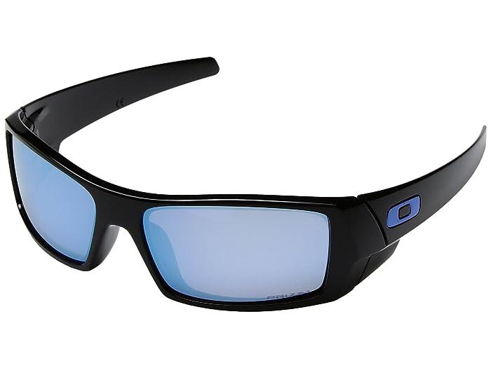 Oakley GasCan (Polished Black/Prizm Deep Water Polarized) Sport Sunglasses