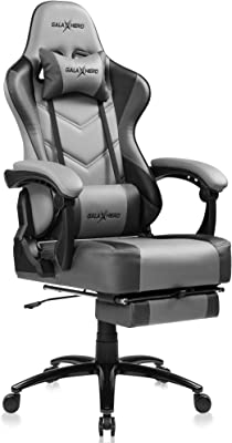GALAXHERO ゲーミングチェア オットマン フットレスト リクライニング げーみんくチェア eスポーツ用椅子 スプリング座面 PUレザー ADJY610GR