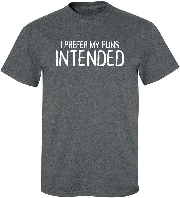 zerogravitee I Prefer My Puns Intended Adult Short Sleeve T-Shirt