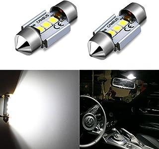 "Alla Lighting CANBUS Error Free 31mm (1.25"") Super White High Power 3030 SMD DE3175 DE3021 DE3022 3175 LED Bulbs for Inter..."