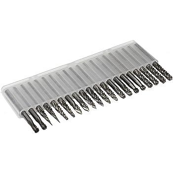 "1//8 Shank Carbide Bur Bit SL 1//8 Dia 3//8/"" Cut Length Tapered Single Cut Burr"