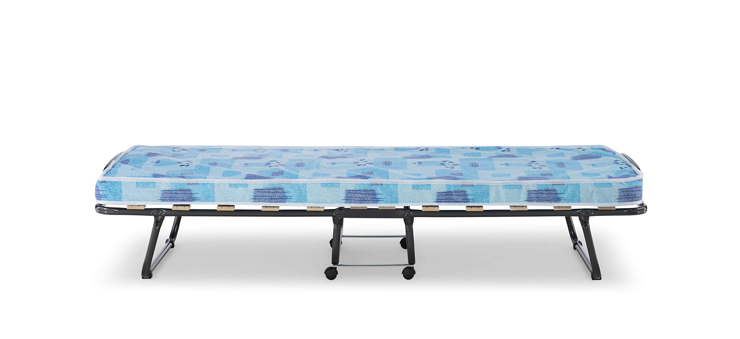 Linon Folding Bed, Roma, Cot, Blue And White