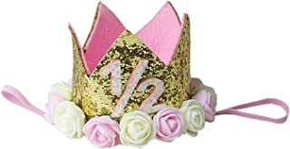Kirei Sui Baby Girls Sparkle Birthday Princess Crown Headband