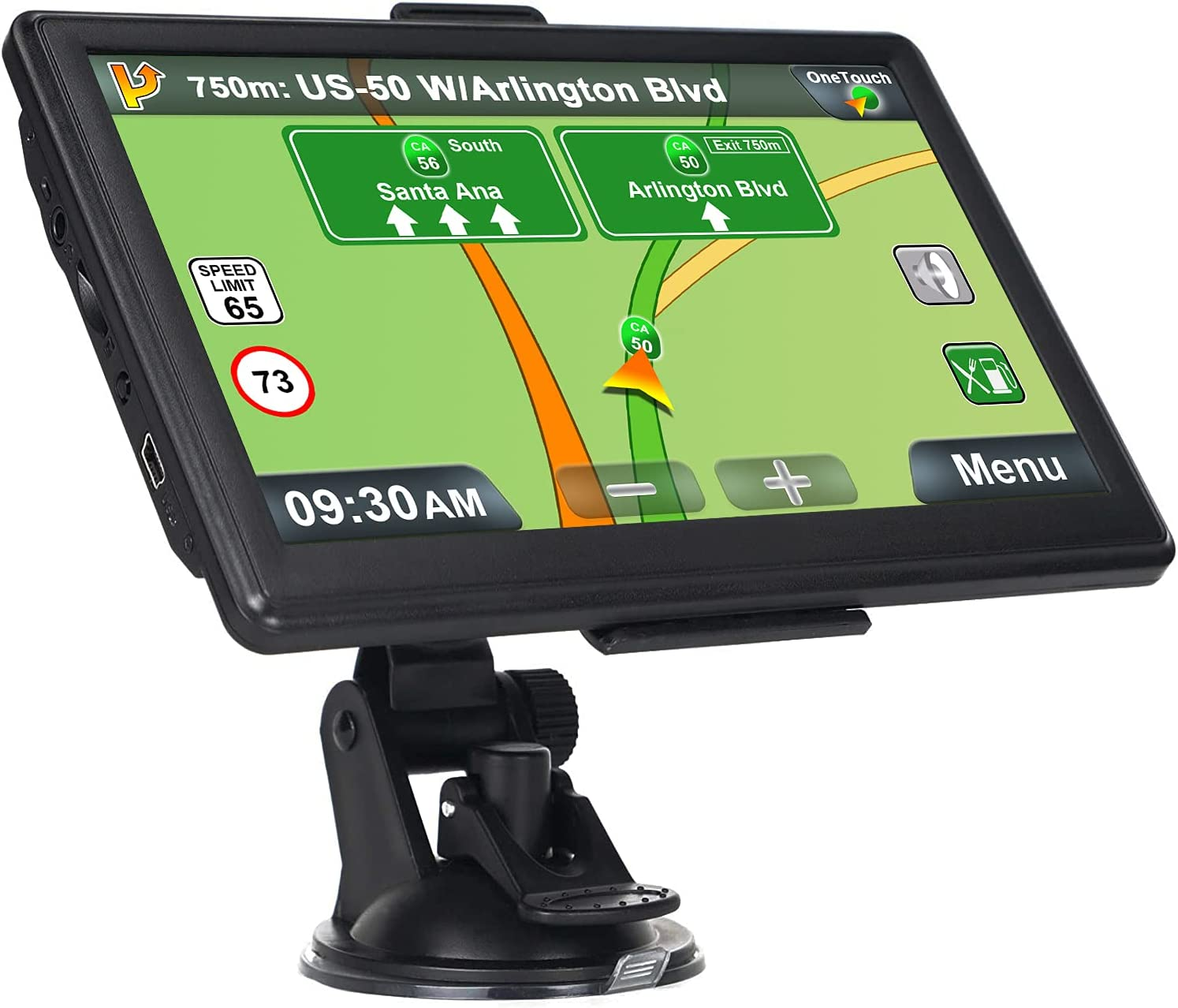 GPS Navigation for Car, Latest 2021 Map Touchscreen 7 Inch 8G 256M Navigation System with Voice Guidance and Speed Camera Warning, Lifetime Free Map Update: GPS & Navigation