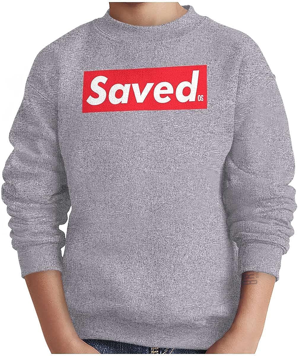 Saved Jesus Christ Blessed Christian Youth Sweatshirt Boy Girl