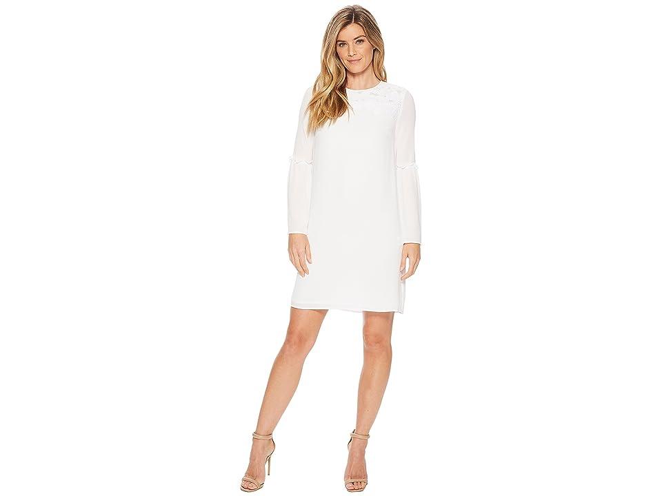 MICHAEL Michael Kors Bell Sleeve Lace Dress (White) Women