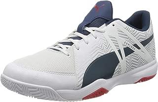 Puma Men's Explode Eh 3 White-Dark Denim-high Badminton Shoe