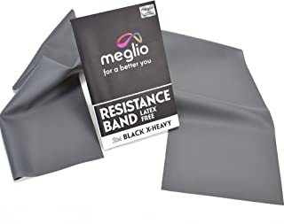 Latex Free Resistance Bands 2 Metre - Exercise Bands for Physiotherapy, Strength Training & Fitness Workouts, Yoga, Pilates, Stretching. Range of Resistance Strengths Available & Exercise Guide Booklet Included