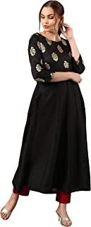 Indian Tunic Tops Poly Silk Kurti for Women
