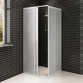 SOULONG 80x80x185 cm Mamparas baño Pantalla para bañera de Vidrio Templado: Amazon.es: Hogar