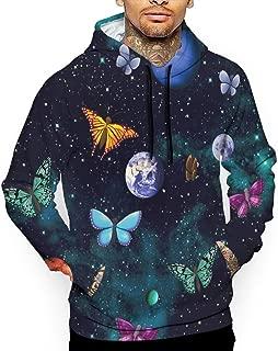 Unisex Cosmic Space Butterfly Hoodies Fashion Pullover Hood Jackets Sweatshirt