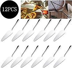 12PCS Stainless Steel Cake Server, Stainless Steel Pie Machine Cake Rack Handle Scraper Slot Pizza Machine Cutting Knife P...
