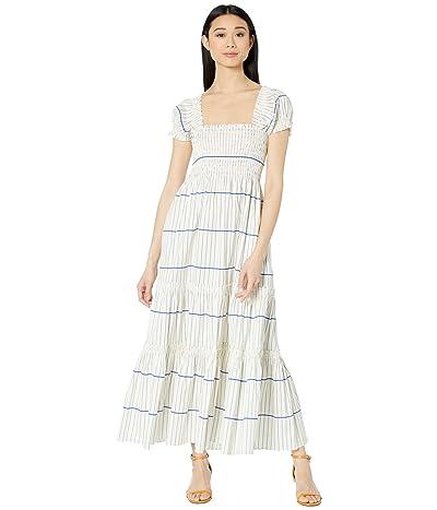 Tory Burch Swimwear Smocked Midi Dress (Ivory/Duchess) Women