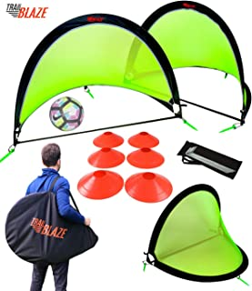 Trailblaze Pop Up Soccer Goals Set - 2 Portable Foldable...
