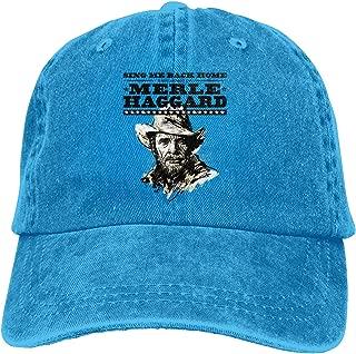 Merle Haggard Unisex Popular Casquette Cap Vintage Adjustable Trucker Hat Black
