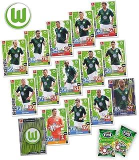 Match Attax Bundesliga 2018/19 - VFL Wolfsburg Mannschafts-Set 15 Karten Basiskarten Clubkarte Starspieler  2X Fini Football - deutsche Ausgabe