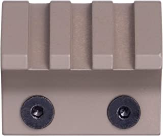 Monstrum Tactical 45 Degree Offset Picatinny Rail Section with M-LOK Adaptor Base | 3 Slot/1.5 inch (Flat Dark Earth)
