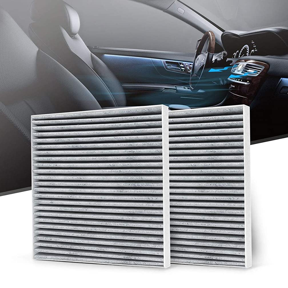 KAFEEK Cabin Air Filter Fits CF10374, 68164981AA, 87139YZZ09, 88970273, Replacement for Toyota/Dodge/Pontiac, includes Activated Carbon (2-Pack)