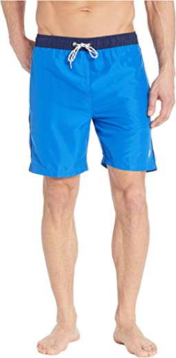 Contrast Waistband Swim Shorts