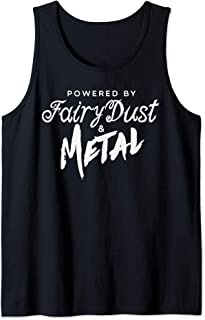 Powered By Fairy Dust And Metal Musician Hard Rock Music Tank Top