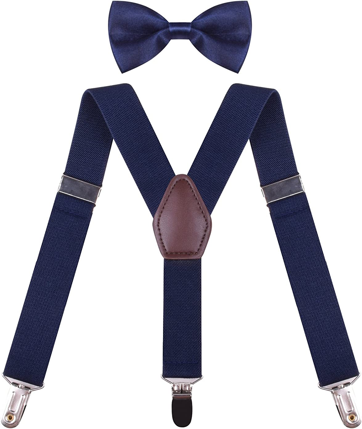 ORSKY Boys' Suspenders with Bow Tie Set Adjustable Y Back