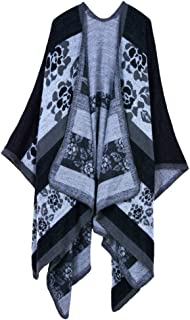 Women's Extra Large Spring and Autumn Long Stole Soft Warm Scarf Shawl Black