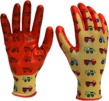 DIGZ 7661-26 Boys' Youth Stretch Garden Gloves with Nitrile Coating