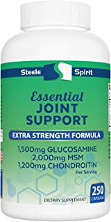 2000mg MSM 1500mg Glucosomine 1200mg Chondroitin - Joint Pain Support Supplement - Best Maximum Strength Formula for Men and Women