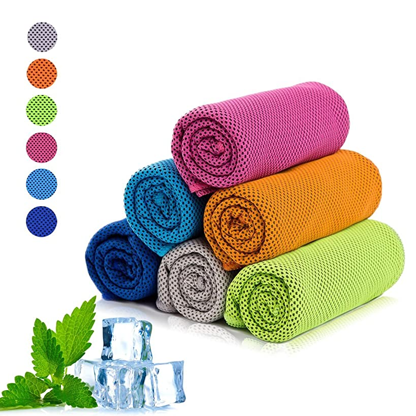 "XZSUN Cooling Towel, Cool Towel for Instant Cooling Relief,40""x12"" use as Sports, Travel, Camping, Workout,Yoga& More"
