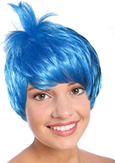 Costume Adventure Blue Pixie Character Costume Wig for Adults or Kids