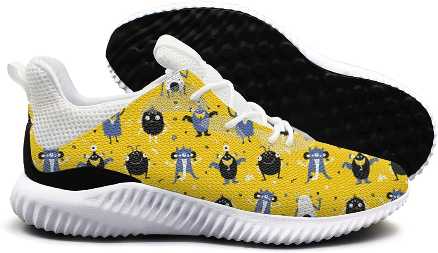 Monsters Pattern Vector Image Leisure Sports Running shoes Womens New Cool Active