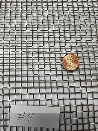 "Mill 12/"" Width ASTM E2016-06 12/"" Finish Bronze Woven Mesh Sheet Unpolished"