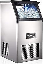 Machine à glaçons, 45 Glaçons Par 15Min, 80kg en 24 Hrs, 2 tailles de Glaçons, Machine a glacons professionnel, 11,5 KG de...