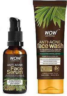 WOW Skin Science Anti Acne Kit - consist of Anti Acne Face Wash Tube + Anti Acne Face Serum - Net Vol. 130mL