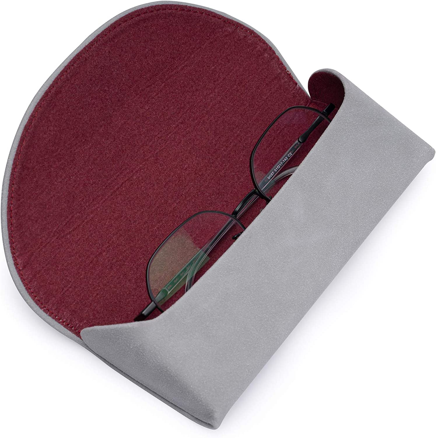 Protective Soft Leather Case For Eyeglasses,Durable Eyeglasses Case For Men And Women