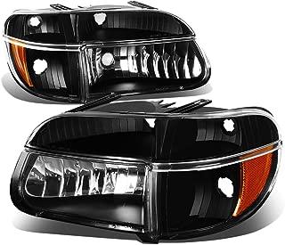 For Ford Explorer/Mercury Mountaineer Pair of Black Housing Headlights & Amber Corner Lights